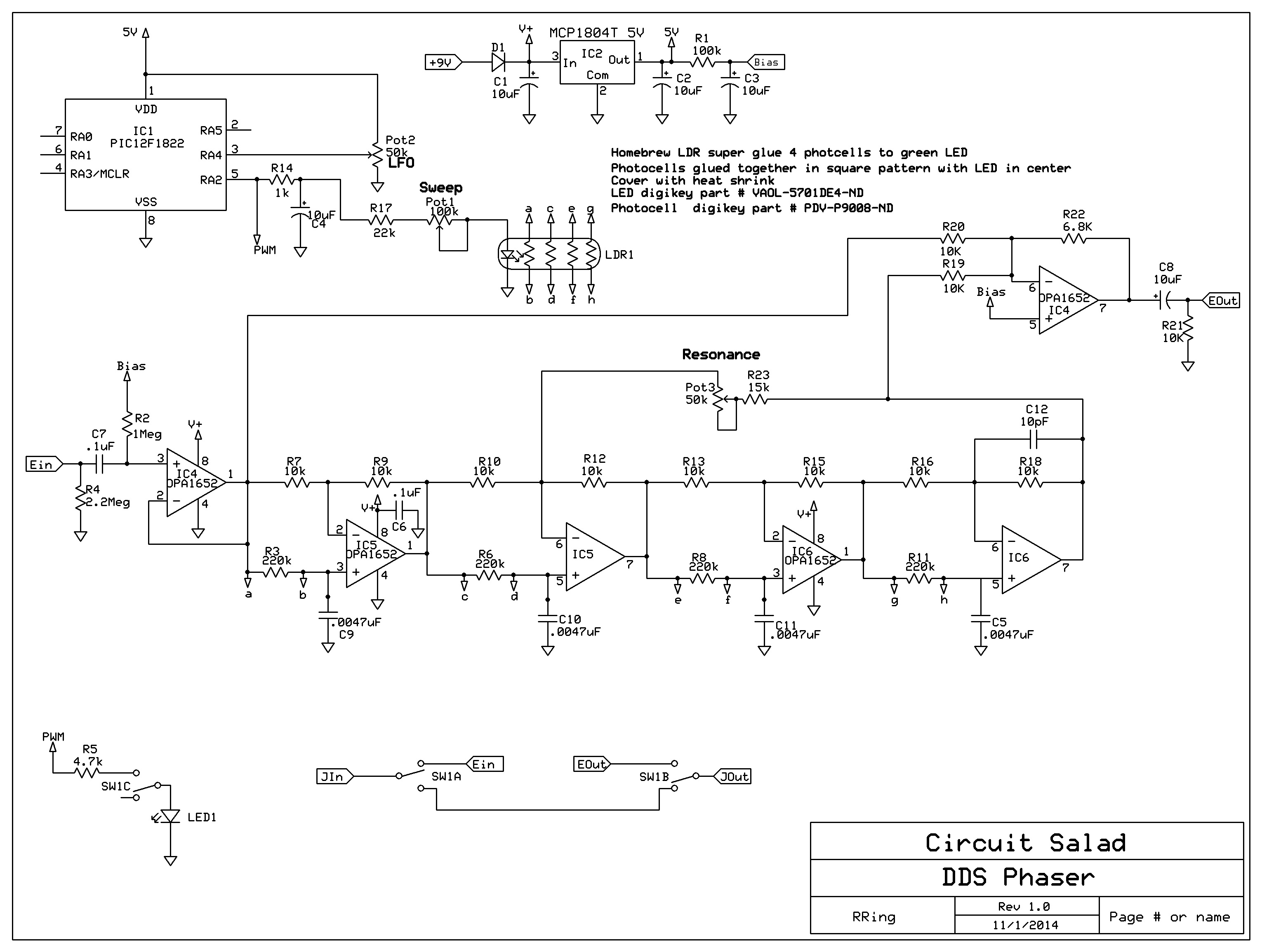 2014 Circuit Salad The Four Circuits I Put On Board Of Course Used 001uf Not Etched