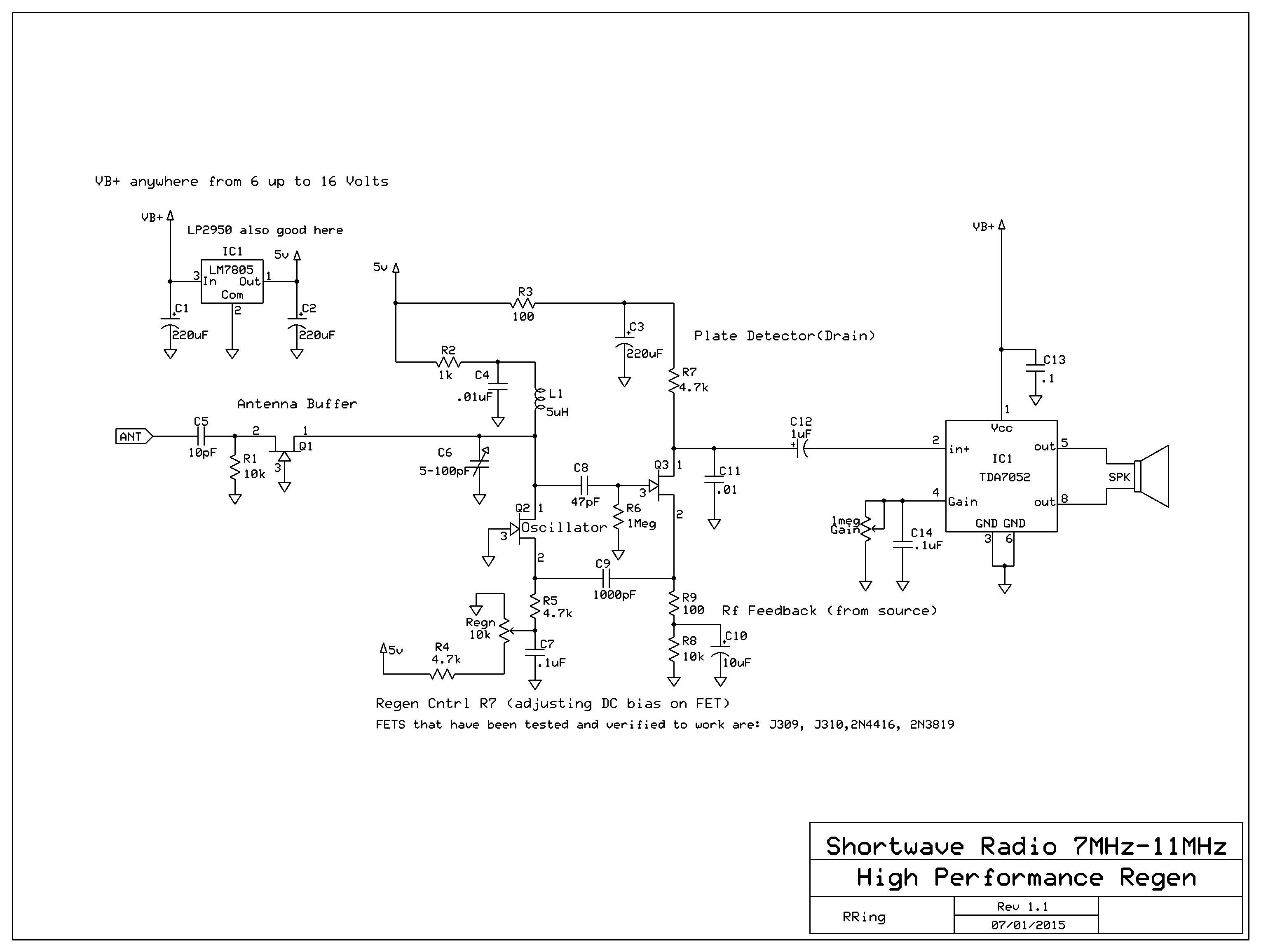Mosfet Test Circuit A High Performance Regenerative Radio Salad Regen Simple