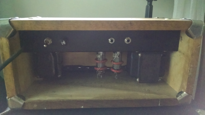 back of amp